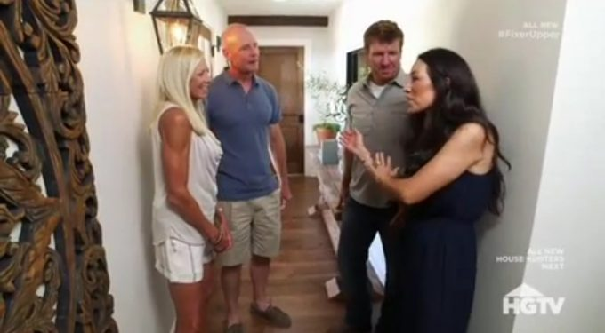 Fixer Upper Season 4 Episode 4 Stephanie and John Eberle with Joanna and Chip Gaines